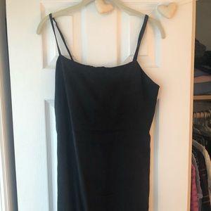 Zara size M black midi dress with slit